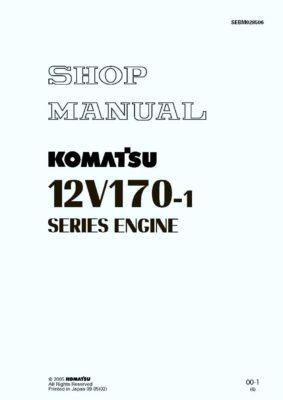 Komatsu DIESEL ENGINE 12V170-1 SERIES Workshop Repair Service Manual PDF Download