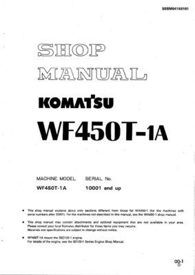 TRASH COMPACTOR WF450T-1A SERIAL NUMBERS 10001 and up Workshop Repair Service Manual PDF Download