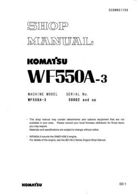 TRASH COMPACTOR WF550A-3 SERIAL NUMBERS 50002 and up Workshop Repair Service Manual PDF Download