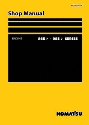 Komatsu DIESEL ENGINE 86E-7, 98E-7 SERIES Workshop Repair Service Manual PDF Download