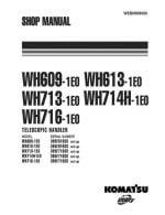 Komatsu WH609-1E0/WH613-1E0/WH713-1E0/WH714H-1E0/WH716-1E0 TELESCOPIC HANDLER Workshop Repair Service Manual PDF Download