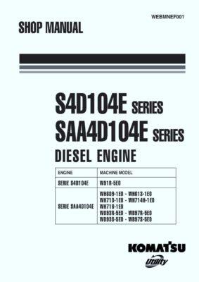 Komatsu DIESEL ENGINE S4D104E SERIES, SAA4D104E SERIES Workshop Repair Service Manual PDF Download