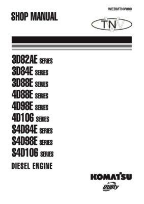 Komatsu DIESEL ENGINE 3D SERIES, 4D SERIES, S4D SERIES Workshop Repair Service Manual PDF Download