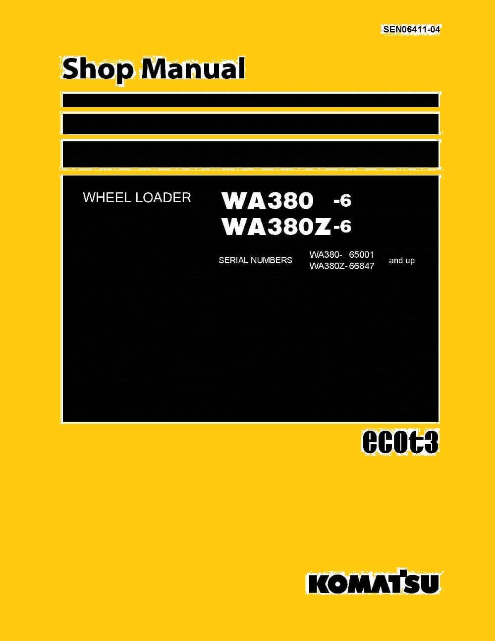 Komatsu Wheel Loader Wa380  Wa380z
