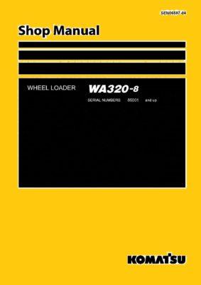 WHEEL LOADER WA320-8 SERIAL NUMBERS 85001 and up Workshop Repair Service Manual PDF Download