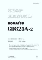 MOTOR GRADER GD825A-2 SERIAL NUMBERS 11001 and up Workshop Repair Service Manual PDF Download