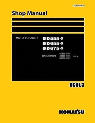 Komatsu MOTOR GRADER GD555-5/ GD655-5/ GD675-5 Workshop Repair Service Manual PDF Download