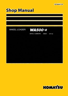 Komatsu WHEEL LOADER WA500-8 Workshop Repair Service Manual PDF Download