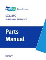 Doosan DX225LC Parts Manual Serial Number 5001 to 5432