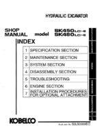 Kobelco SK450(LC)-6/ SK480(LC)-6 Hydraulic Excavator Workshop Repair Service Manual PDF Download
