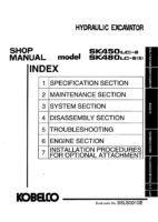 Kobelco SK450(LC)-6/ SK480LC-6(S) Hydraulic Excavator Workshop Repair Service Manual PDF Download