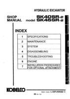 Kobelco SK40SR-2/ SK45SR-2 Hydraulic Excavator Workshop Repair Service Manual PDF Download