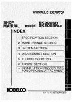 Kobelco SK200SR/ SK220SRLC Hydraulic Excavator Workshop Repair Service Manual PDF Download