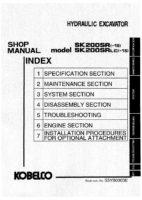 Kobelco SK200SR(-1S)/ SK220SRLC(-1S) Hydraulic Excavator Workshop Repair Service Manual PDF Download