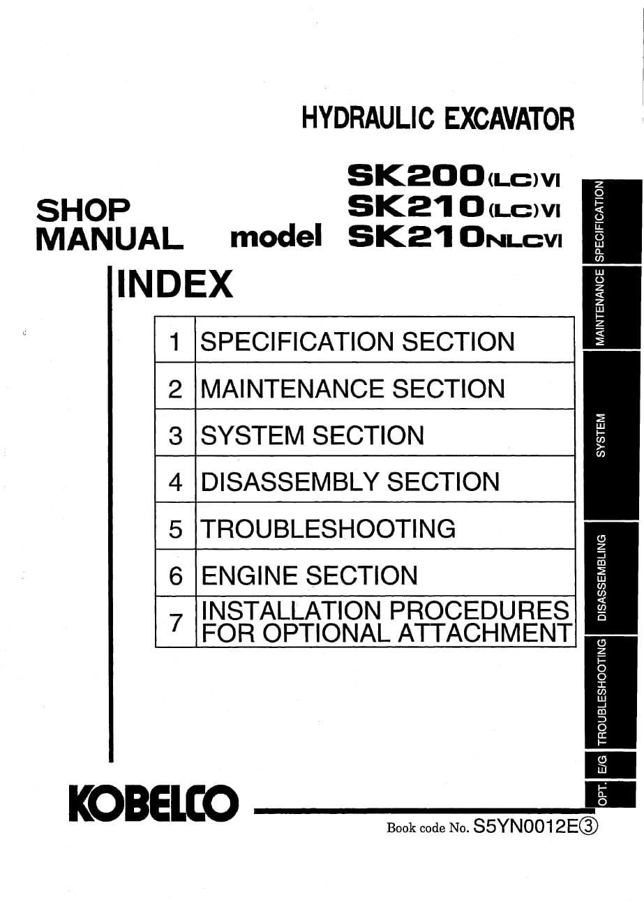 Kobelco SK200LCVI SK210LCVI SK210NLCVI Hydraulic – Loader Kobelco Wiring-diagram