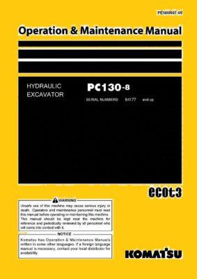 Komatsu PC130-8 Hydraulic Excavator Operation & Maintenance Manual