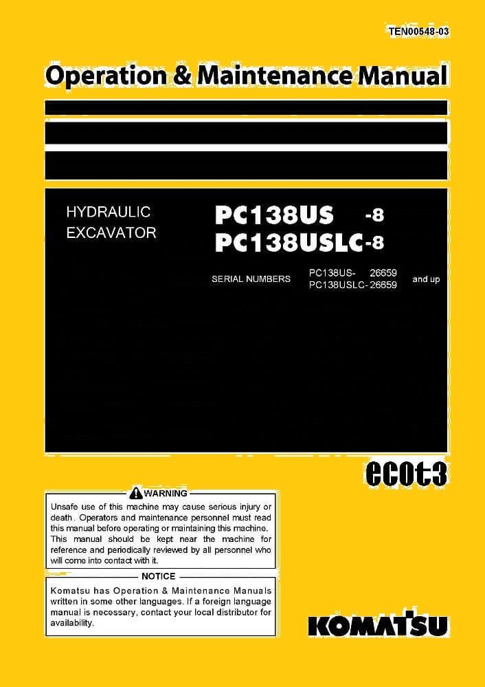 Komatsu Pc138us   Pc138uslc