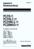 Komatsu PC210-11/ PC210LC-11/ PC210NLC-11/ PC230NHD-11 Hydraulic Excavator