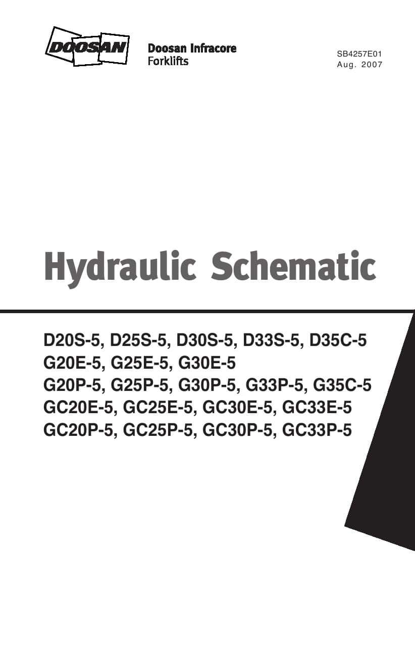Doosan Forklift Hydraulic Schematic All Model Pdf Download