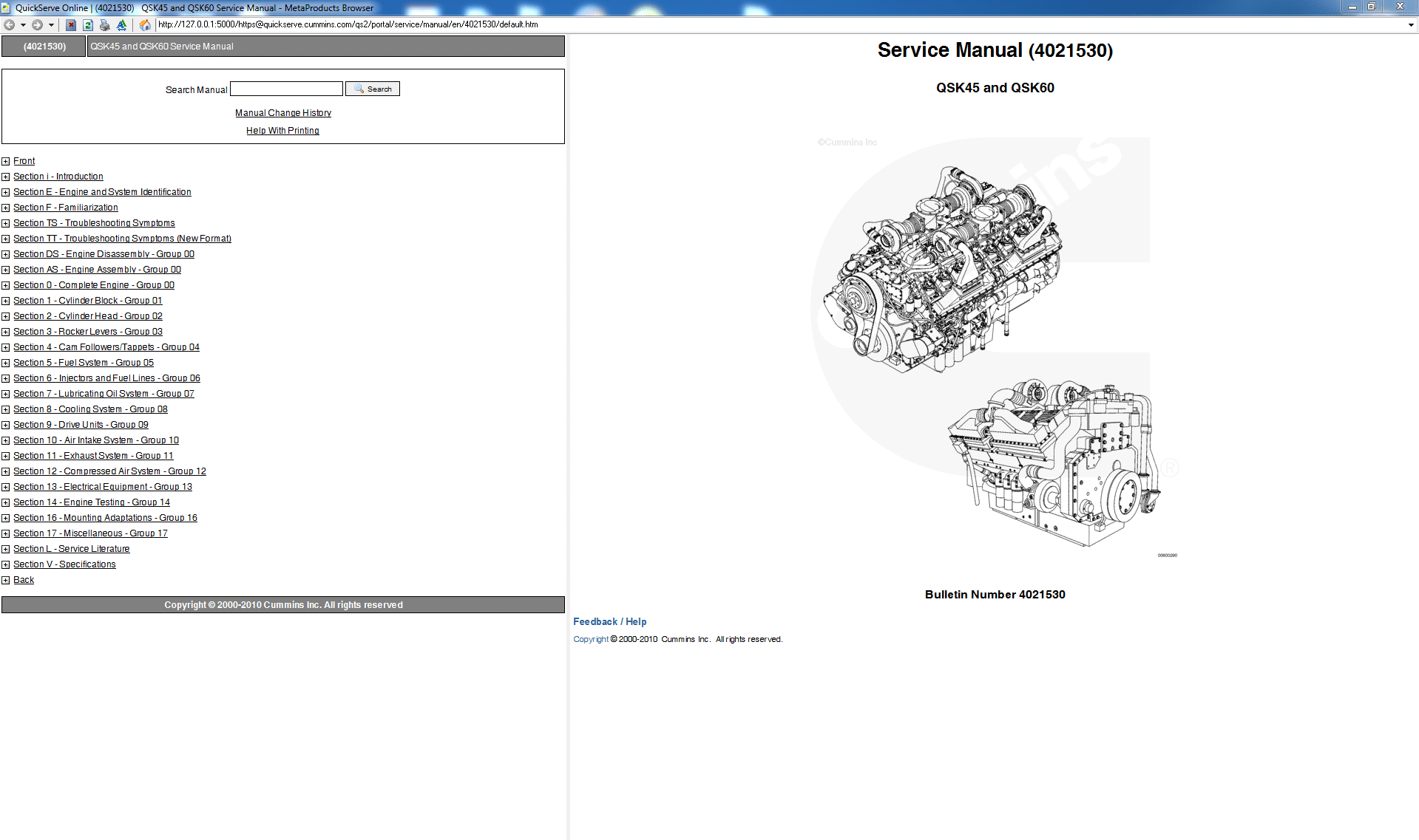 Cummins Qsk45 And Qsk60 Service Manual Pdf Download