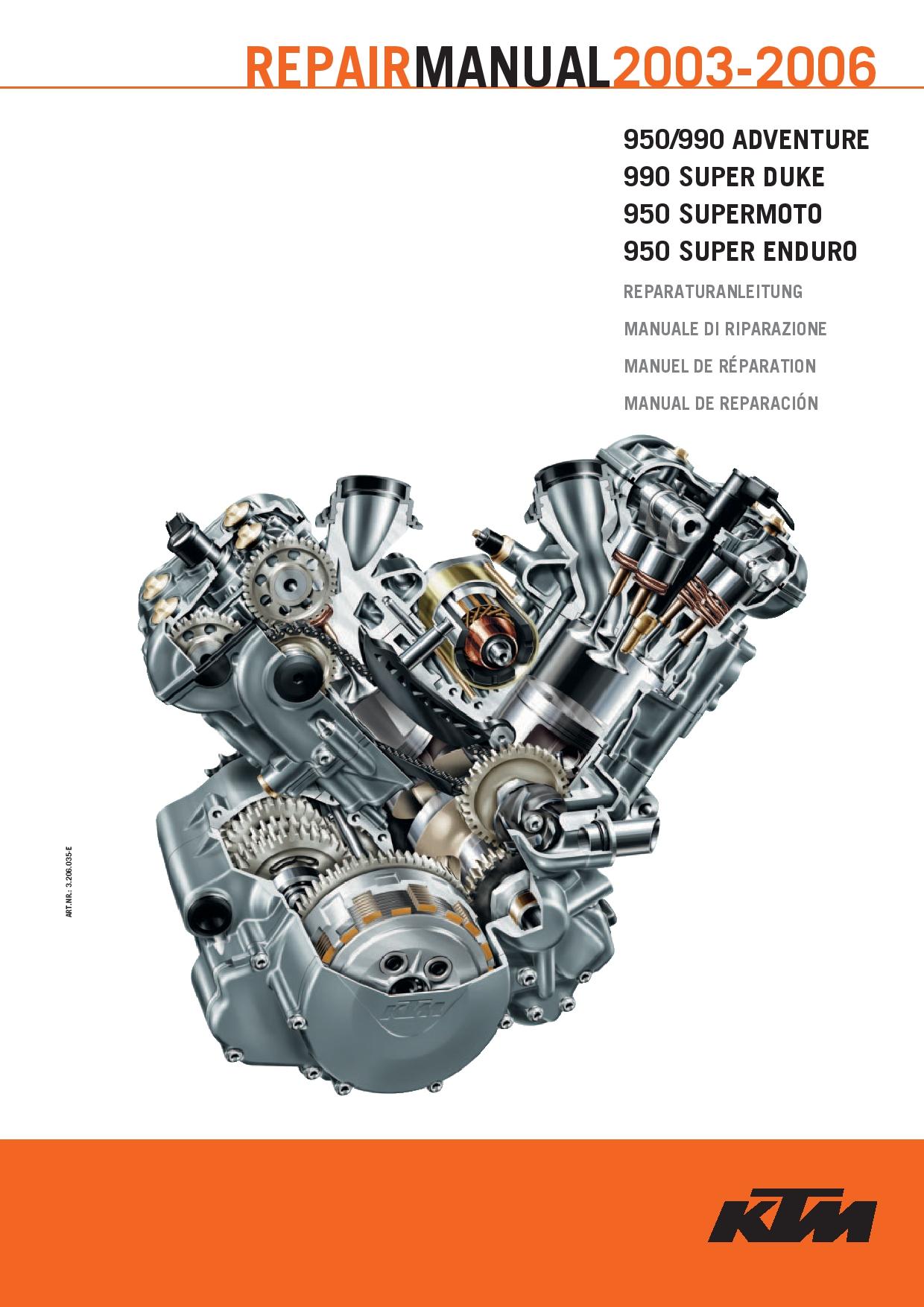 KTM LC8 2003 2006 Repair Manual PDF Download - Service ...