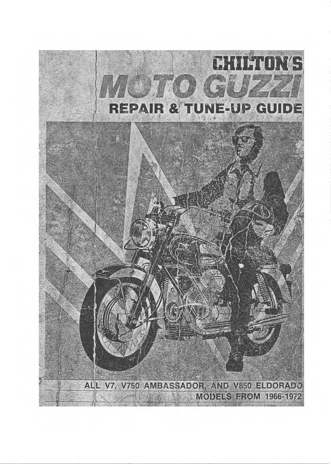 Moto Guzzi Chilton Repair Manual Pdf Download - Service Manual