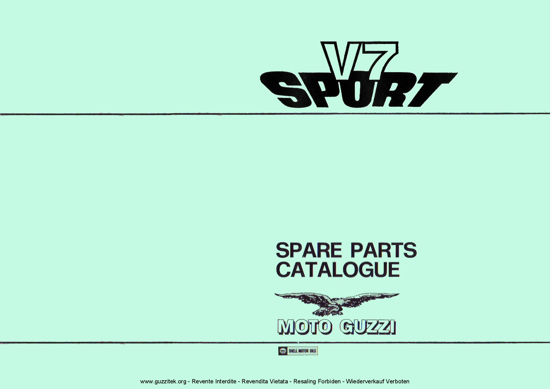 Moto Guzzi V7 Sport 1973 Parts List Pdf Download
