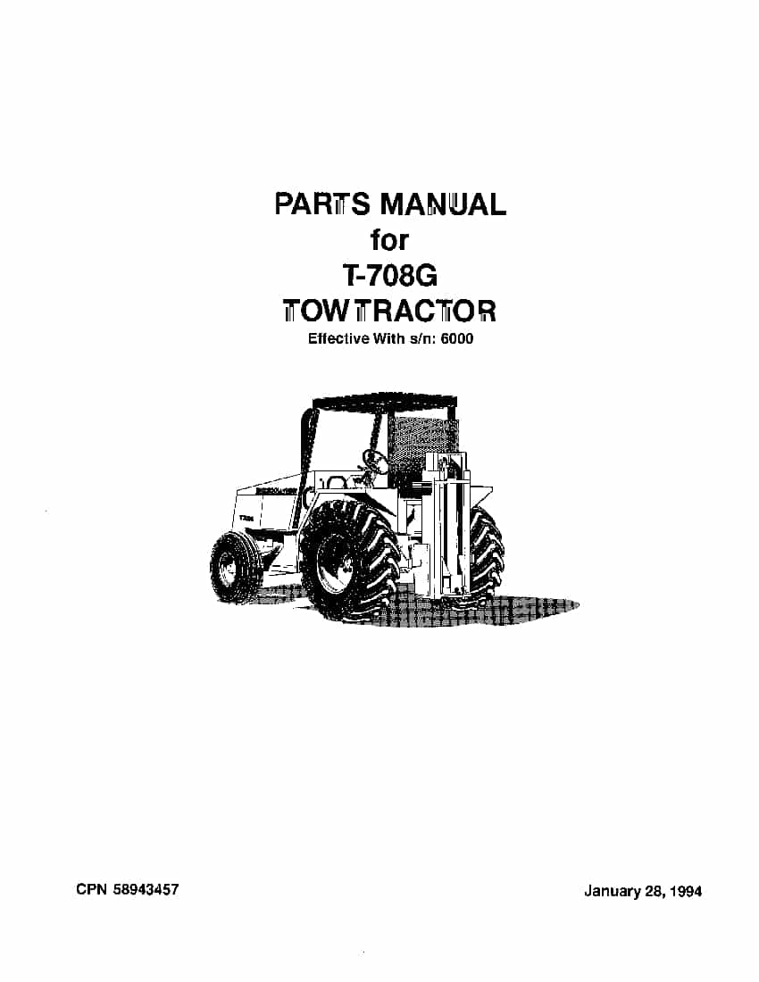 Ingersoll Rand T-708 G Tow Tractor Parts Manual Pdf Download - Service Manual