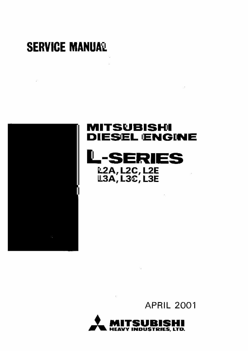 Mitsubishi L2 A B E   L3 A B E  Workshop Repair Service
