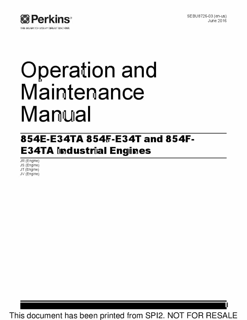 PERKINS 1104C Engine Operation and Maintenance Manual PDF ...