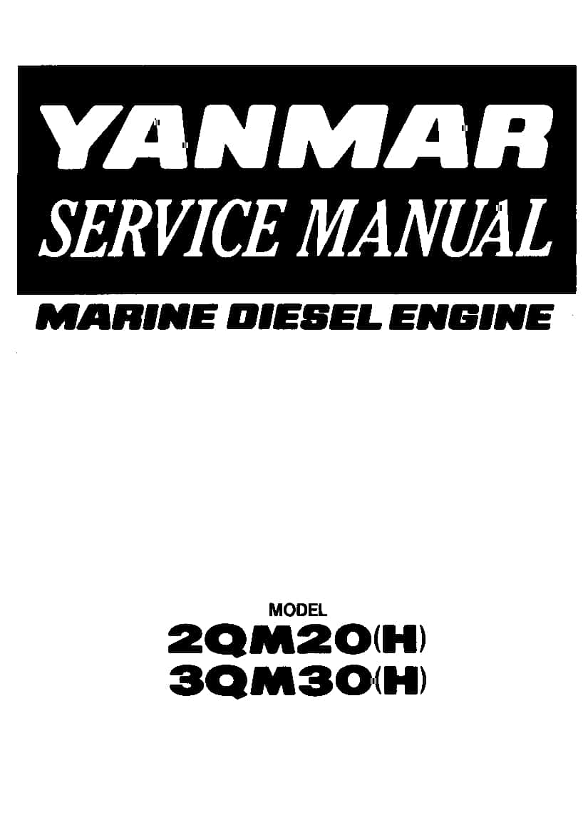 Yanmar 2qm20 3qm30 Marine Diesel Engine Workshop Repair Manual Guide