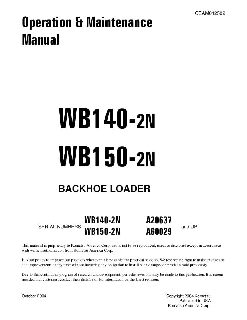 Komatsu Wb140