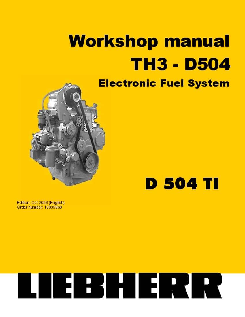Liebherr D504 Electronic Fuel System Diesel Engine
