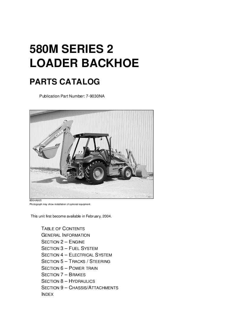 Case 580m Series 2 Parts Manual Pdf Download