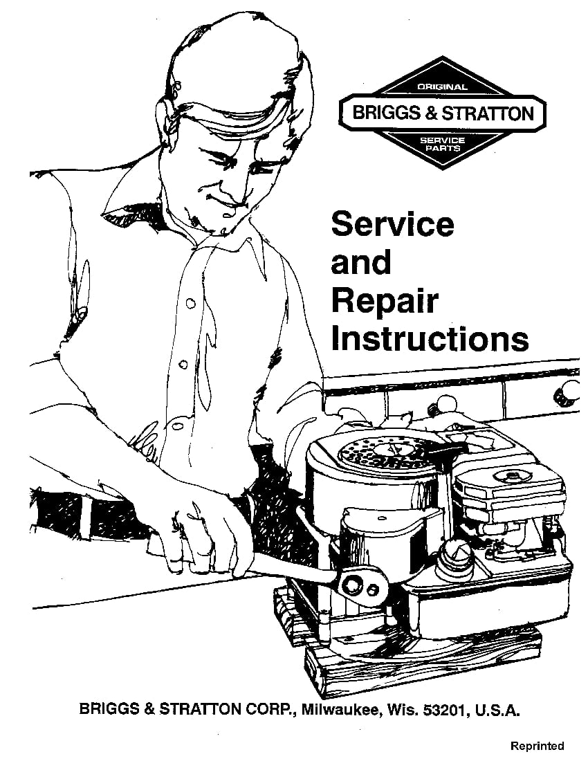 Briggs And Stratton Service And Repair Instruction Manual Manual Guide