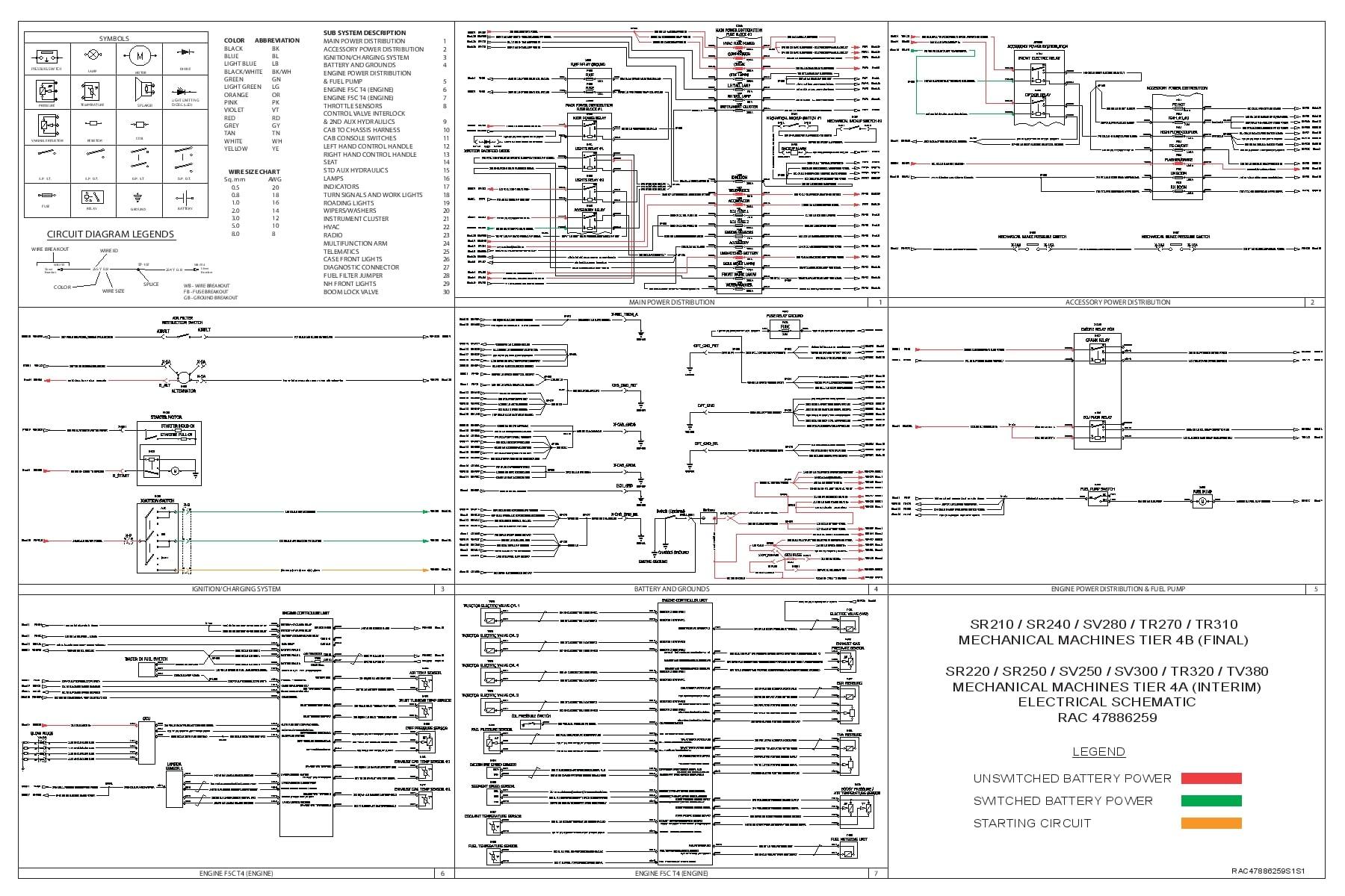 case sr210 sr240 sv280 tr270 tr310 sr220 sr250 sv250 sv300 tr320 tv380 mechanicalelectrical