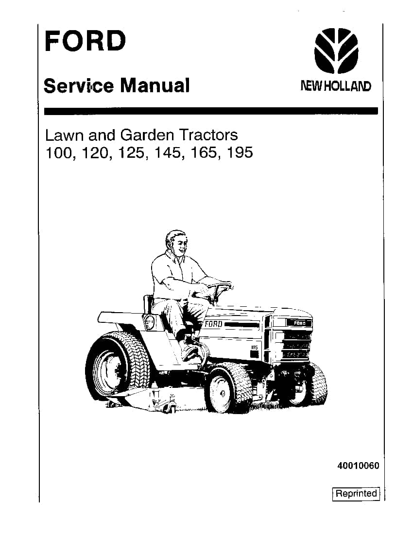 New Holland Ford 100  120  125  145  165  195 Lawn Garden