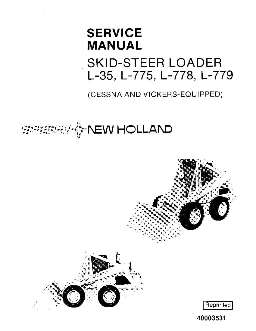 New Holland L35 Skid Steer Service Manual
