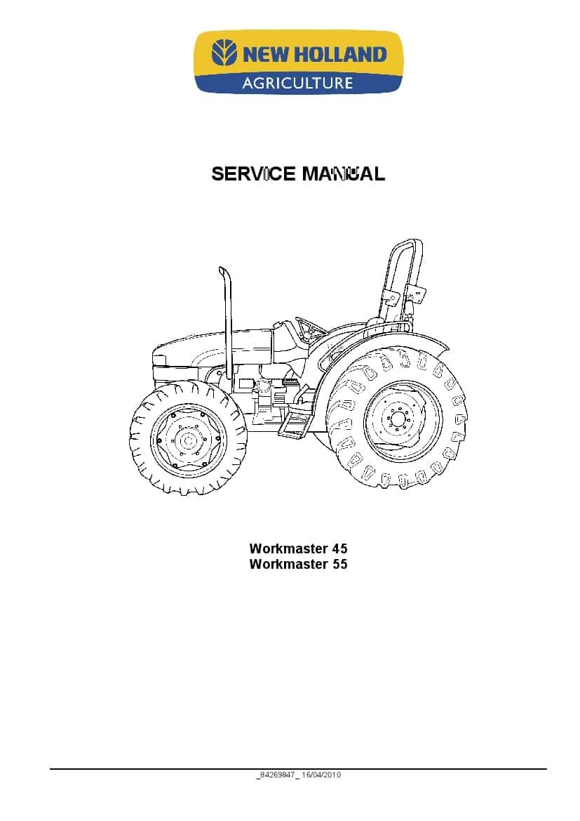 New Holland Workmaster 45  Workmaster 55 Tractor Workshop