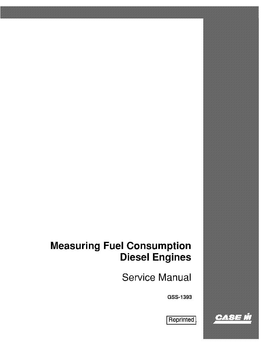 Case Measuring Fuel Consumption On Diesel Engines Repair