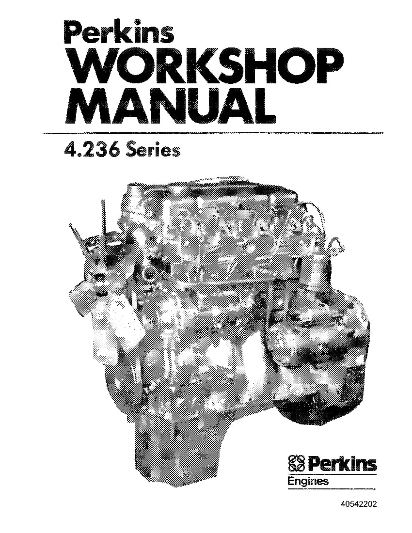 New Holland Perkins Eng Diesel 4 236 Repair Service Manual