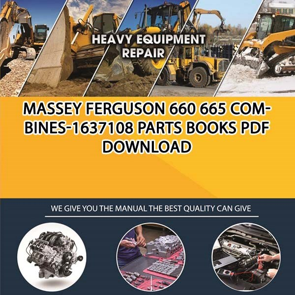 Massey Ferguson 660 665 Combines 1637108 Parts Books Pdf